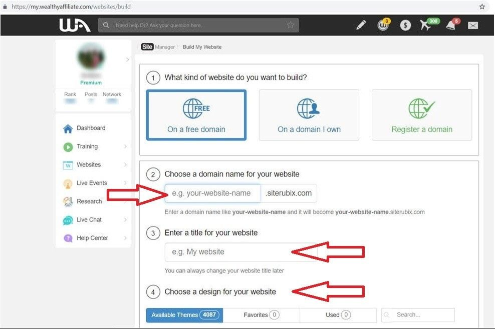 How to Create a Free Website to Earn Money - Learn and Earn at Wealthy Affiliate - 5