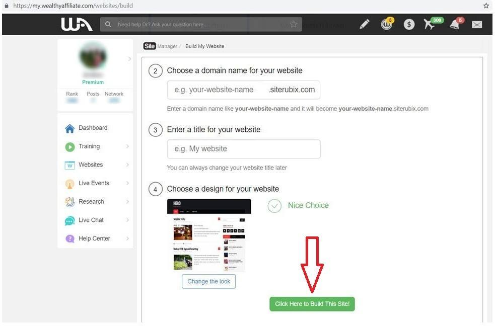 How to Create a Free Website to Earn Money - Learn and Earn at Wealthy Affiliate - 6