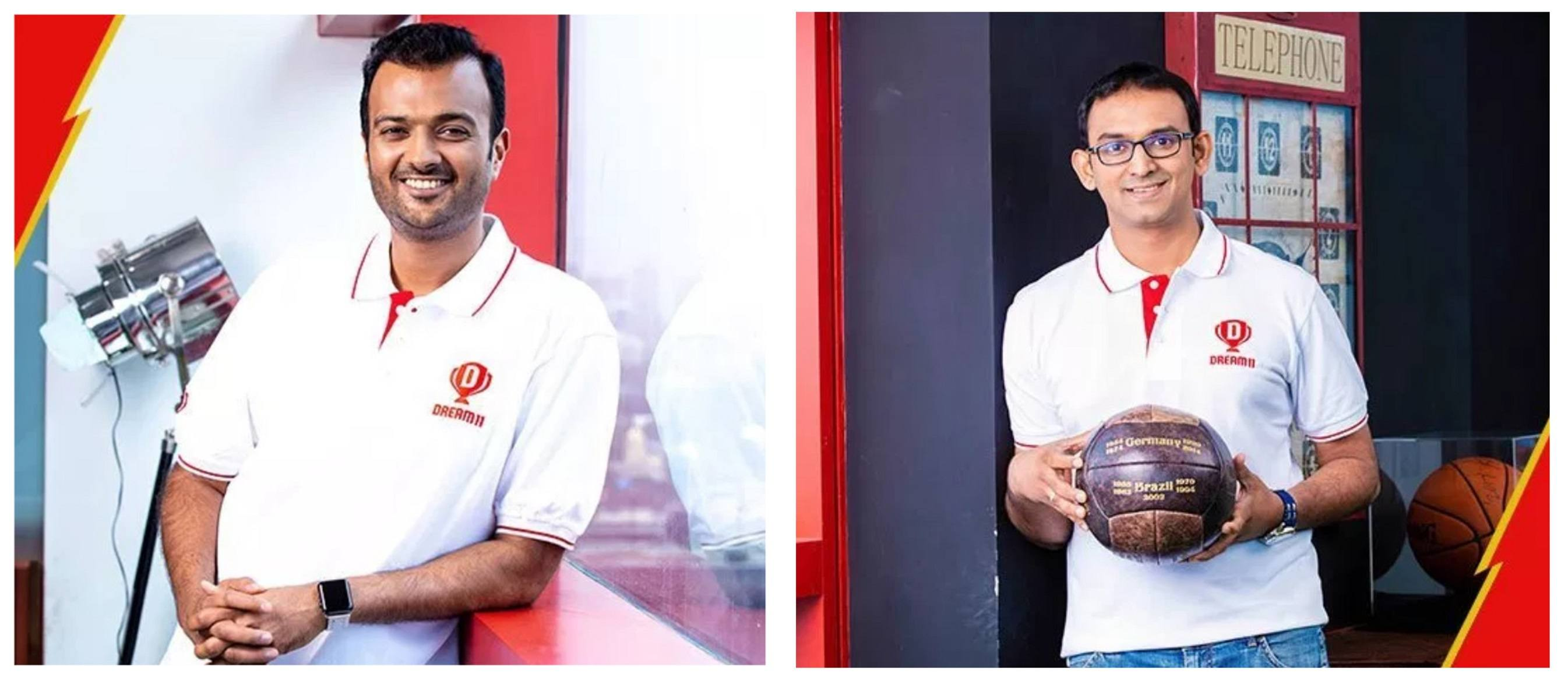 The founders of Dream11 fantasy cricket.