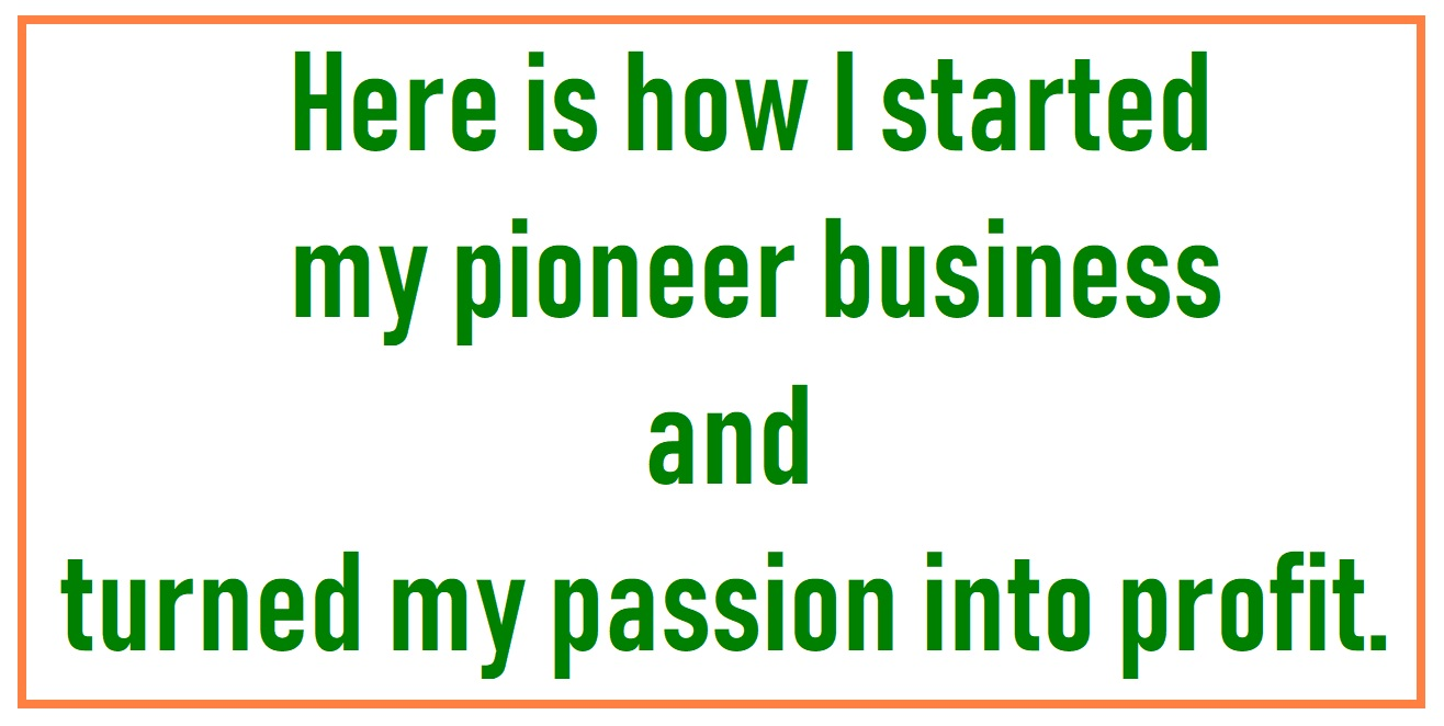 I want a business Idea and turn the passion into profit