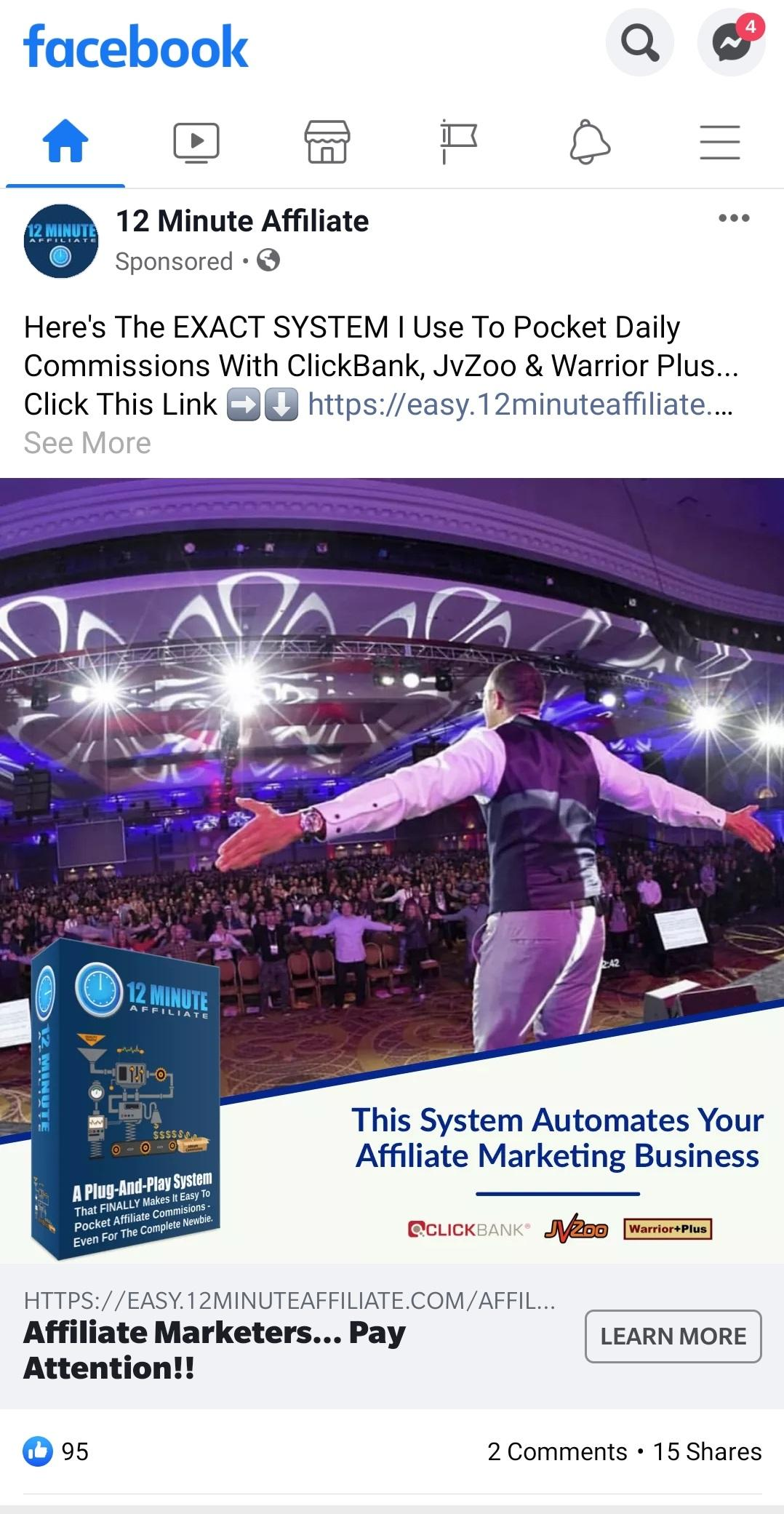Rapid Facebook Ad by12 Minute Affiliate