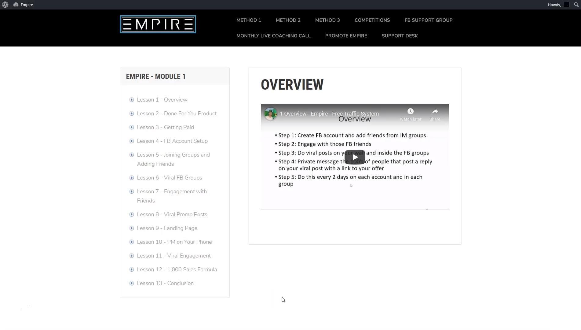 Empire by Fergal Downes: Module 1